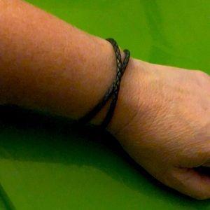 Pandora Braided Double Leather Charm Bracelet